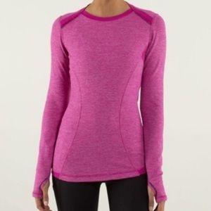 LULULEMON Baserunner Long Sleeve Heathered Pink